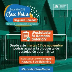 SEGUNDO LLAMADO SUBSIDIO DE CLASE MEDIA DS1 🏠🏠