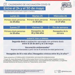 CALENDARIO D VACUNACIÓN